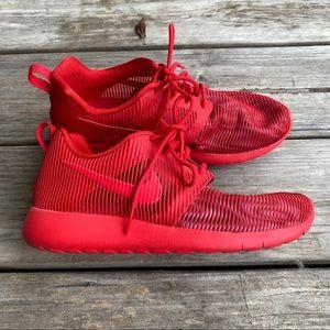 Nike Red Roshe One Flight Sneakers